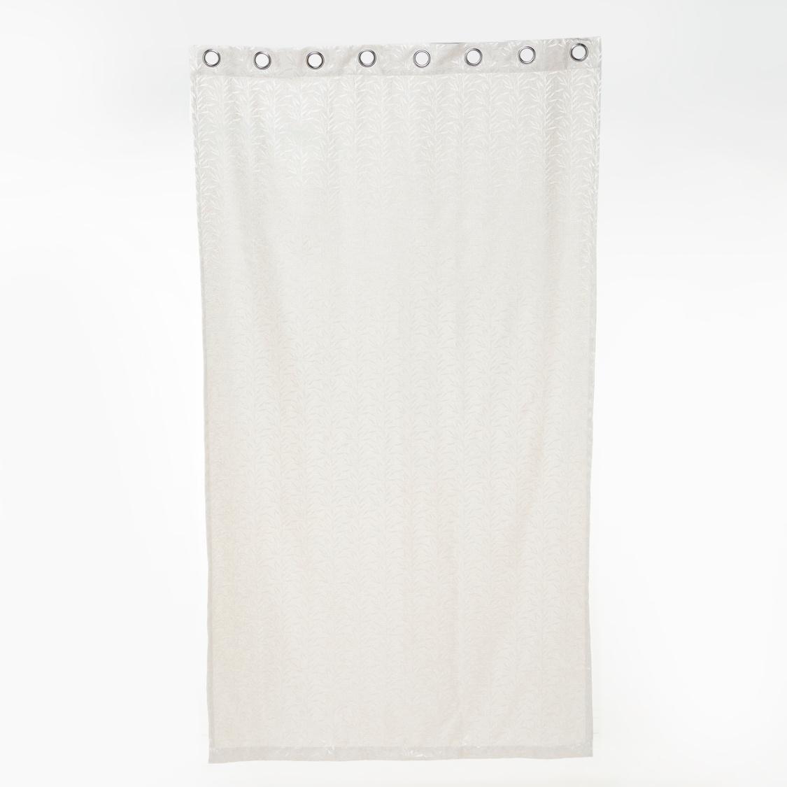 Leaf Print Eyelet Curtain - 135x240 cms