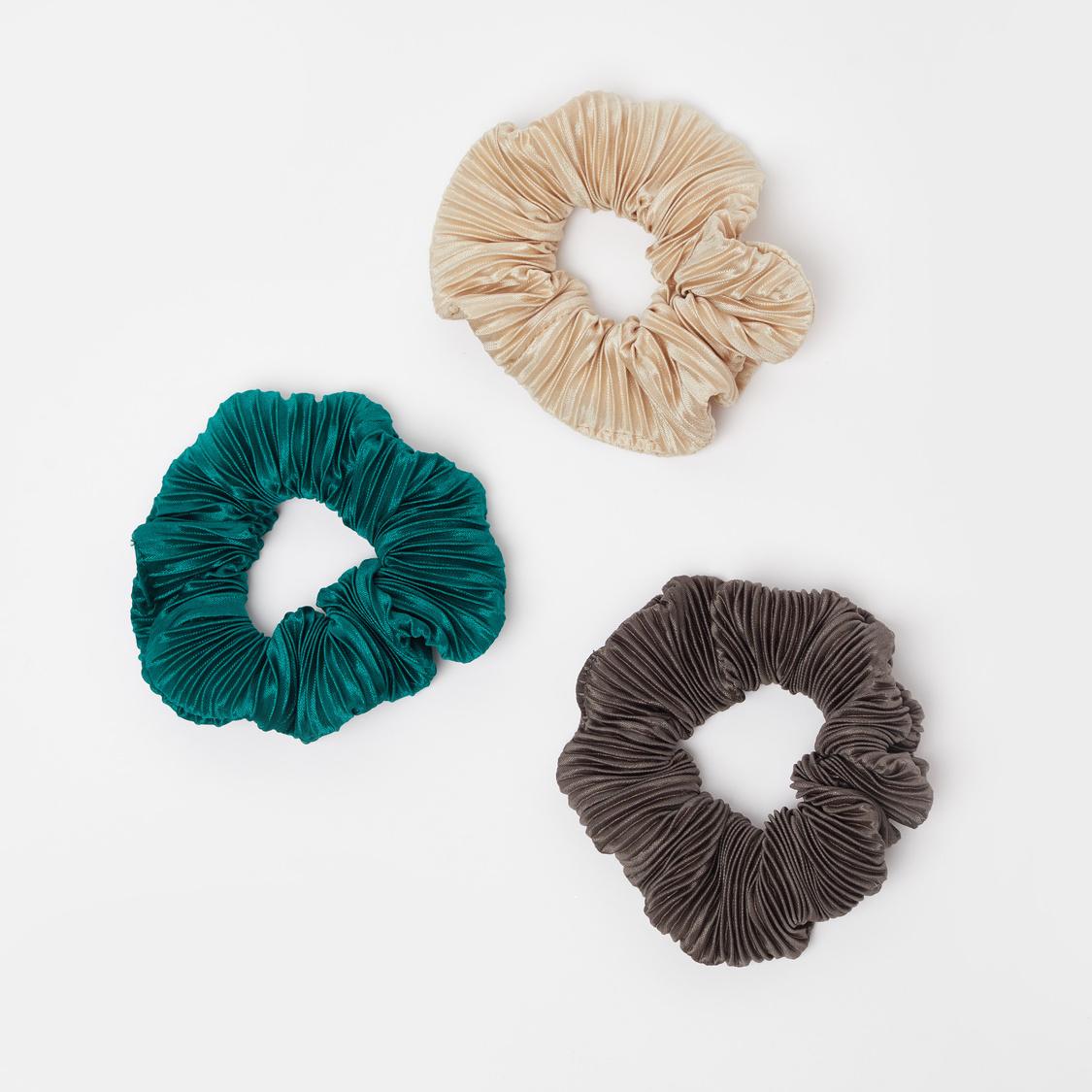 Set of 3 - Textured Scrunchies