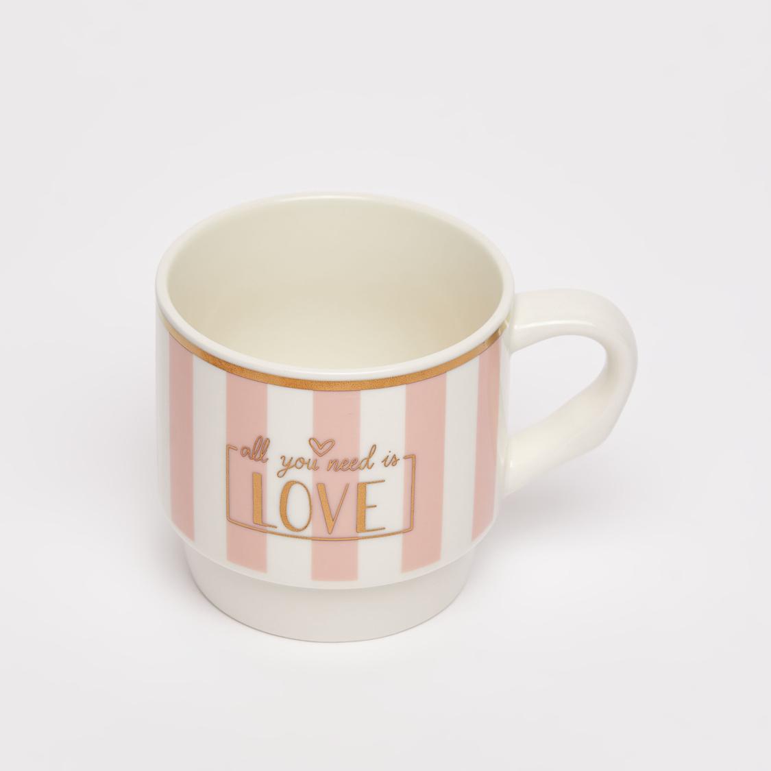 Set of 2 - Striped Mug with Handle