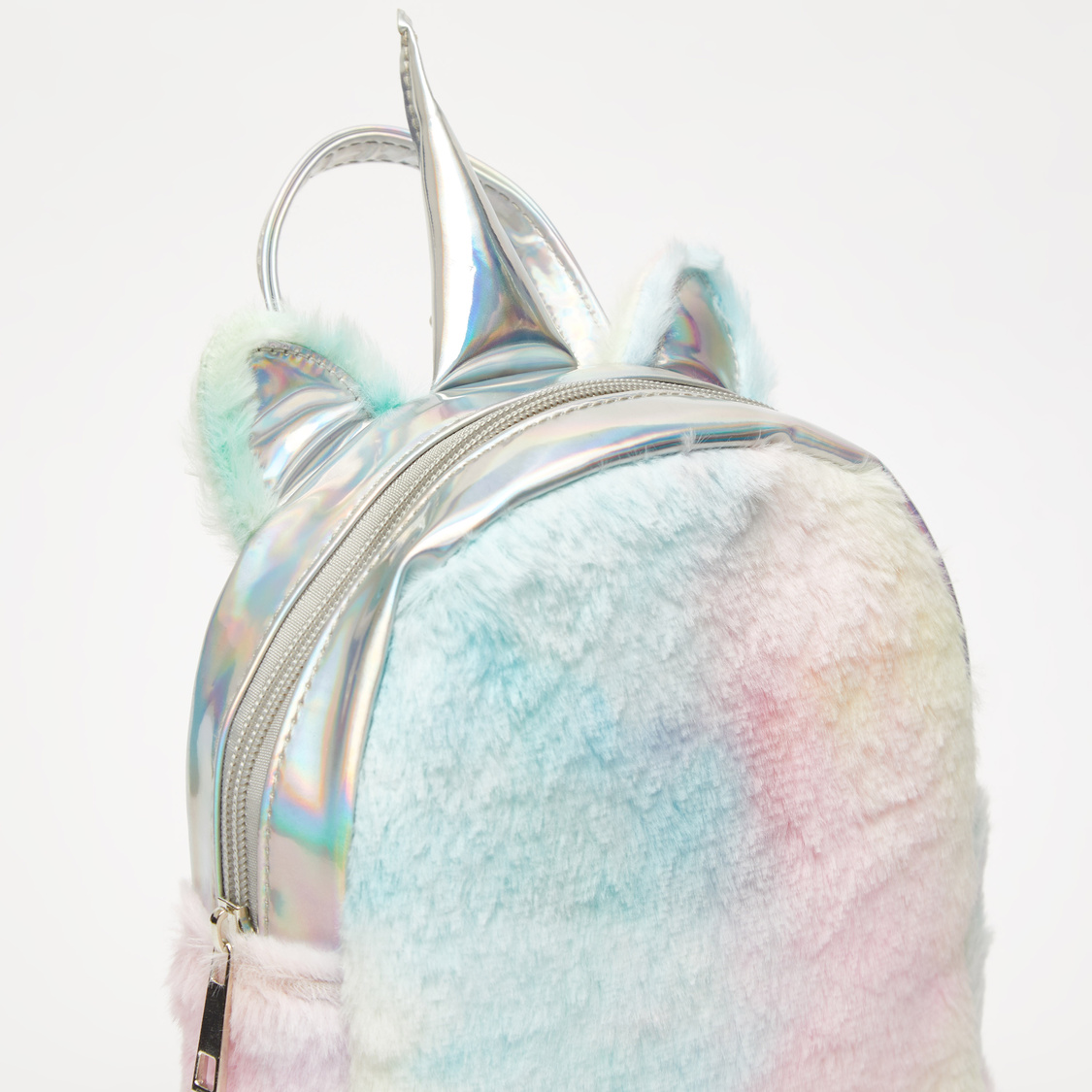Fur Backpack with Shoulder Straps