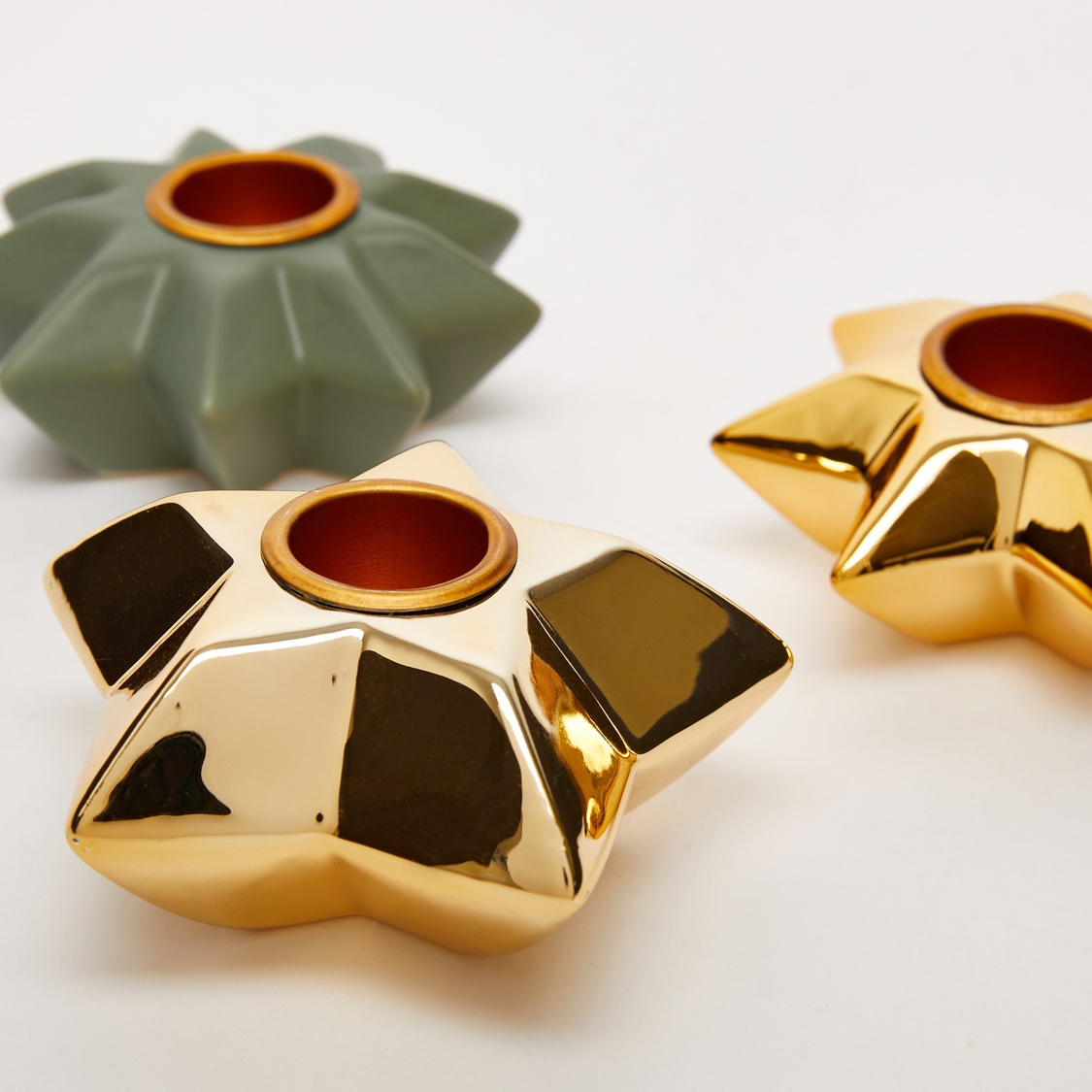 Set of 3 - Star Shaped Candleholder