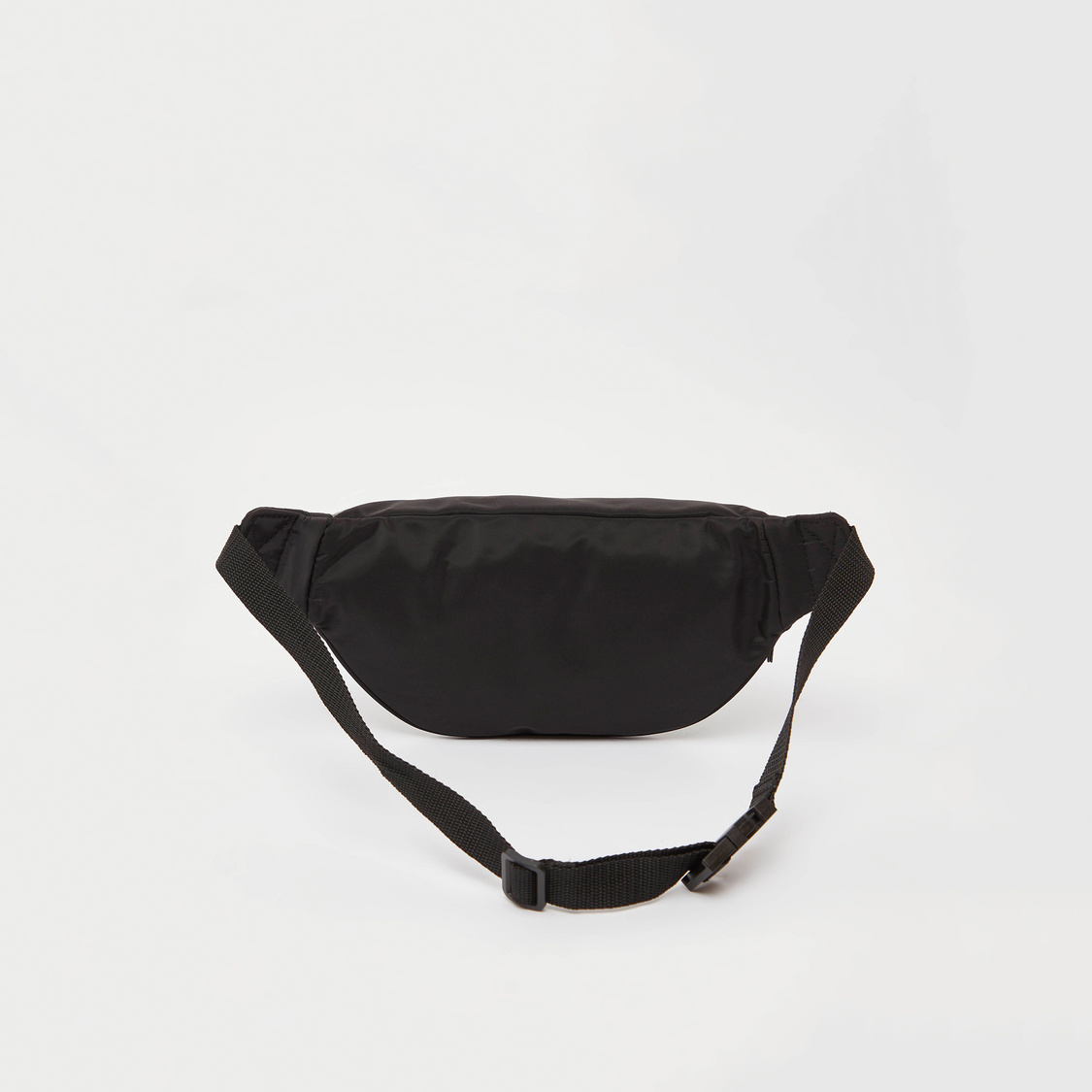 Solid Waist Bag with Applique and Adjustable Strap