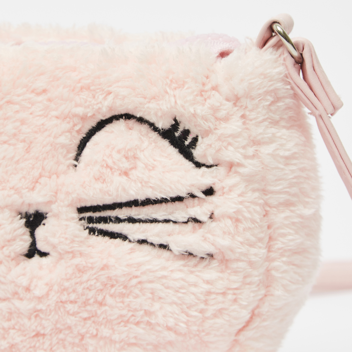 Embroidered Crossbody Bag with Sling Strap and Zipper Closure