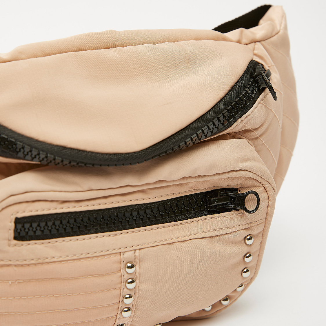 Stitch Detail Fanny Pack with Zip Closure