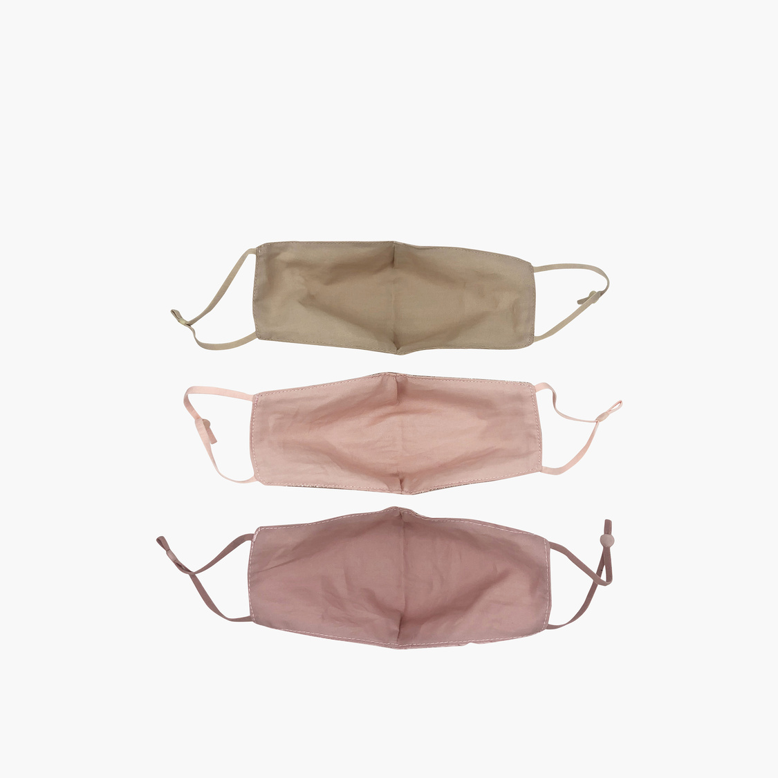 Set of 3 - Solid Anti-Dust Reusable Mask