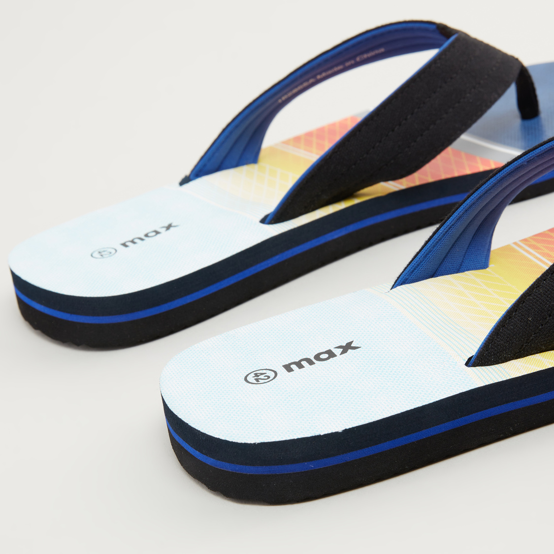 Printed Slippers with Stitched Straps