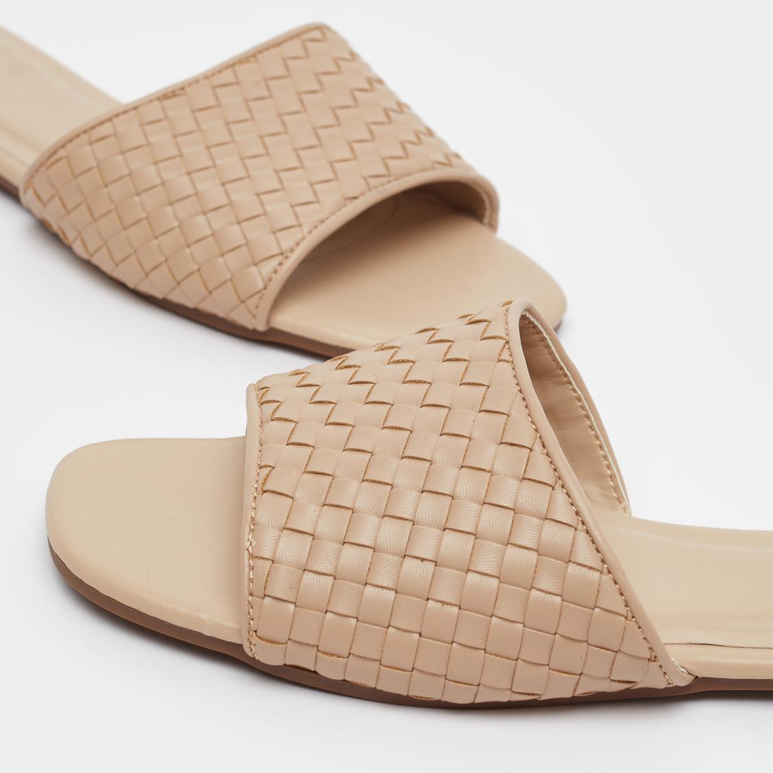 Textured Slip-on Sandals