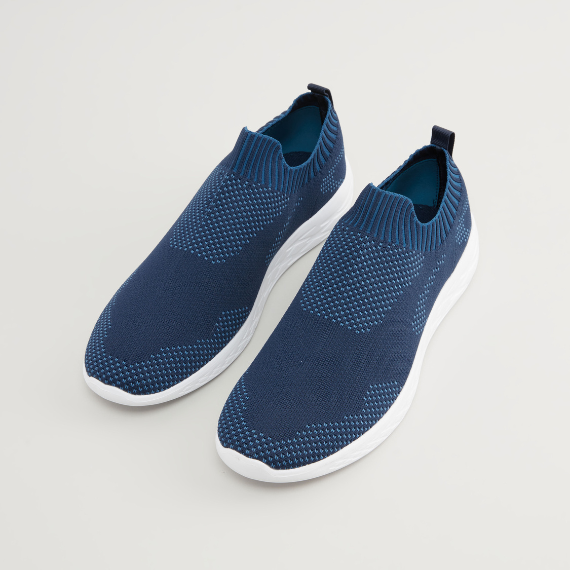 Textured Slip On Walking Shoes