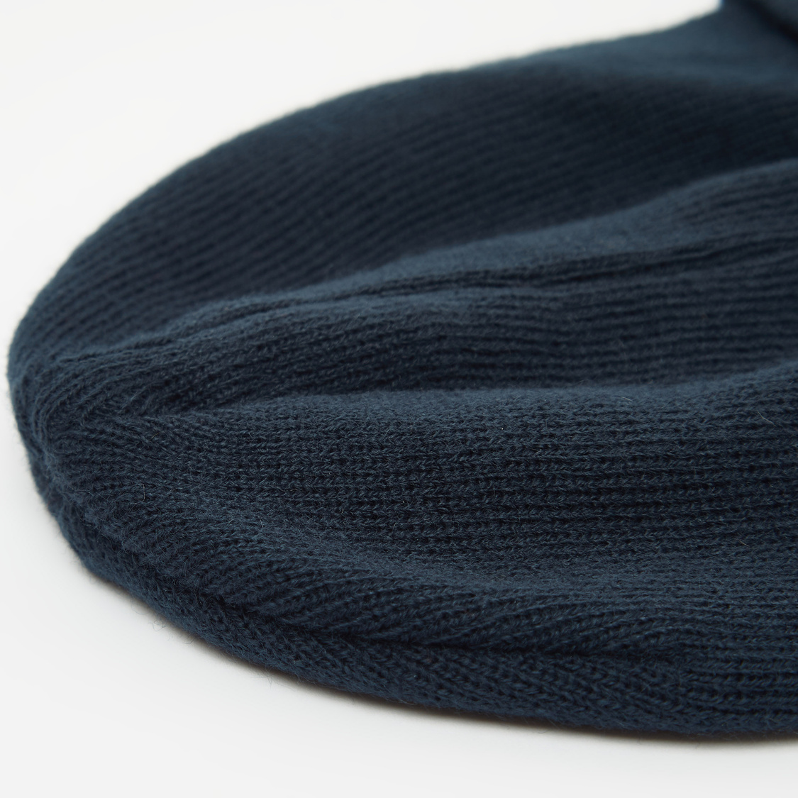 Solid Beanie Cap with Applique