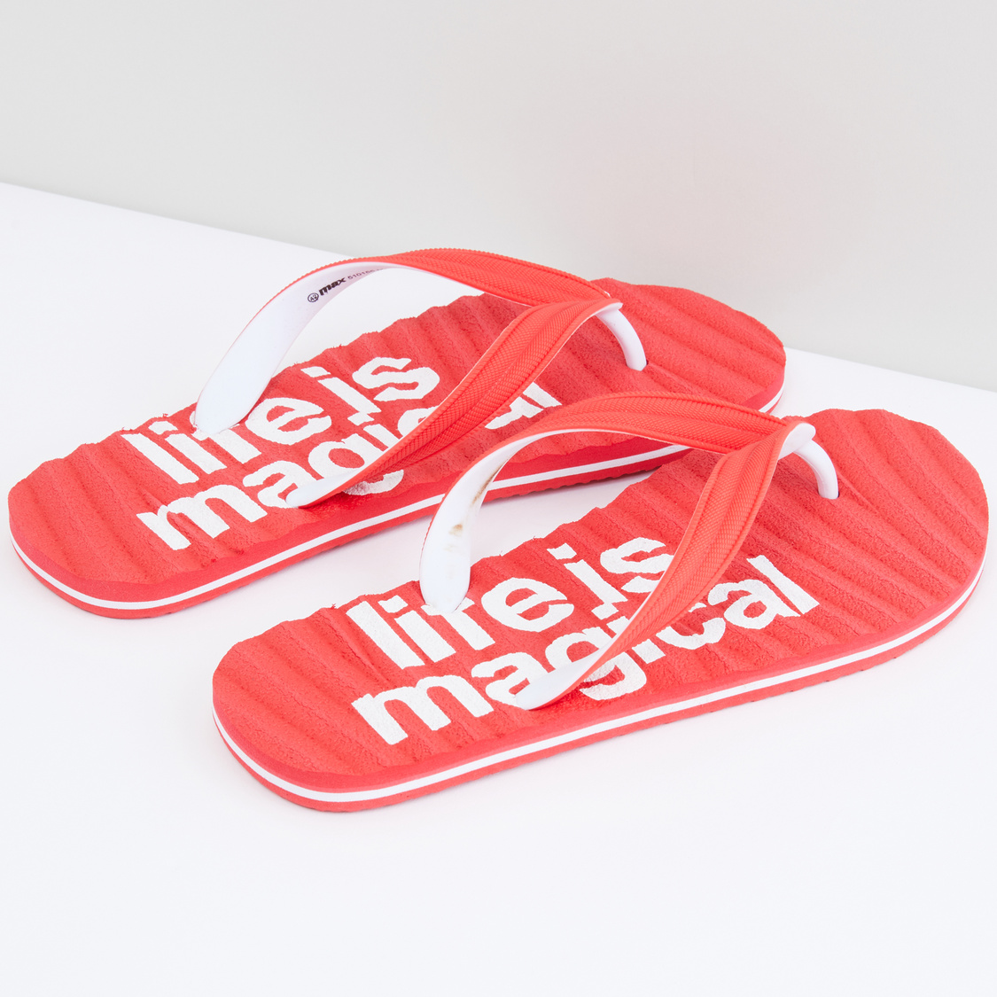 Printed and Textured Flip Flops