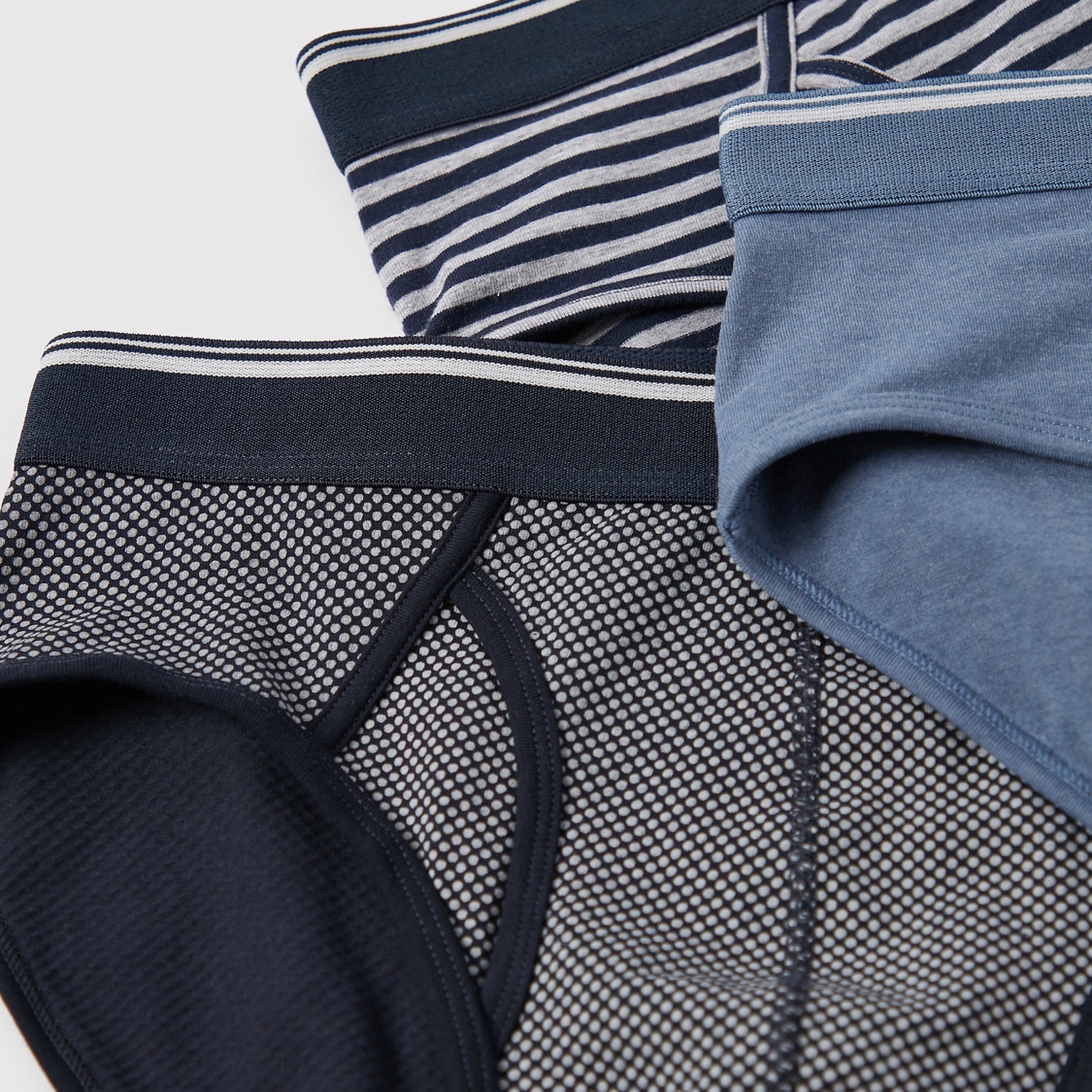 Pack of 3 - Assorted Briefs with Wide Elasticised Waistband