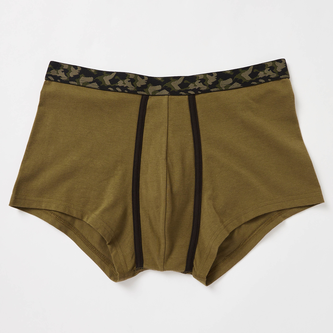 Set of 2 - Camouflage Print Trunks with Wide Elasticised Waistband