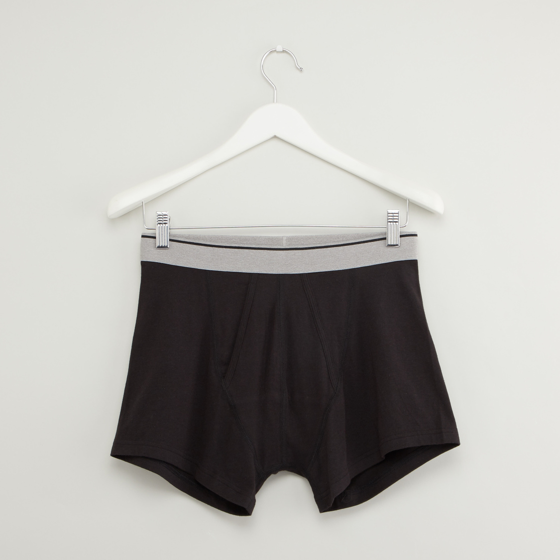 Set of 2 - Solid Trunks with Wide Elasticised Waistband