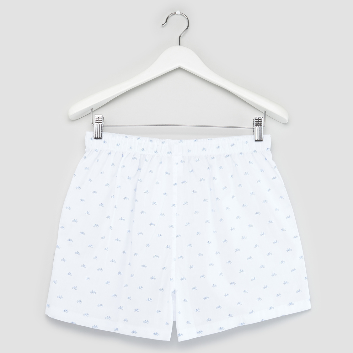 Set of 2 Print Woven Boxers with Elasticated Waist
