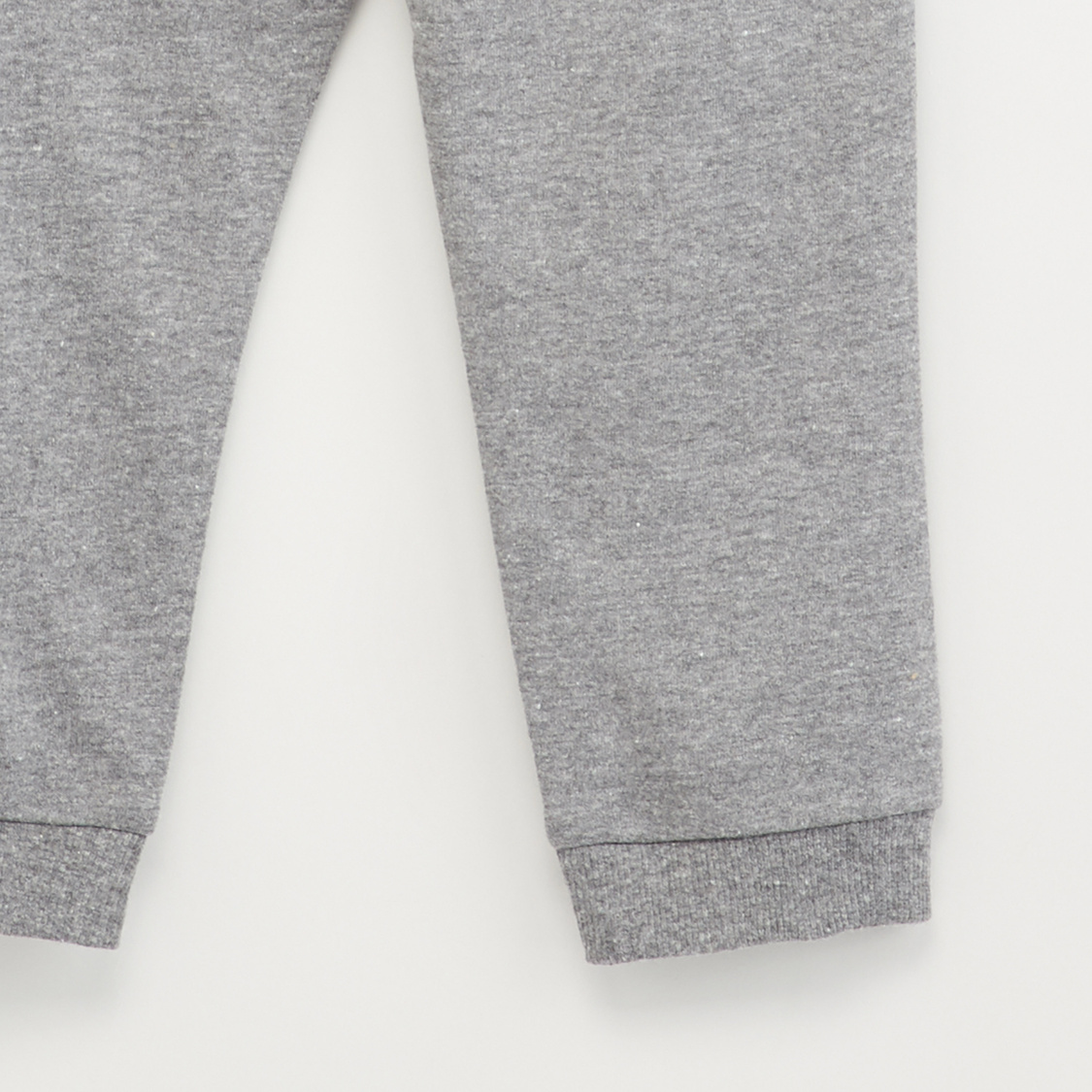 Textured Joggers with Drawstring Closure and Zip Detail
