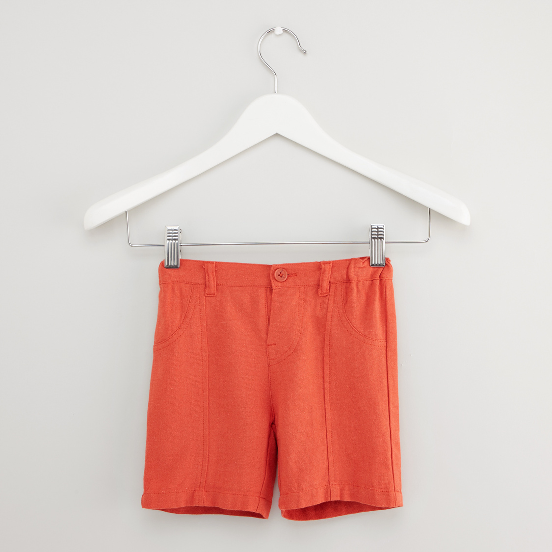 Textured Polo T-shirt with Solid Shorts