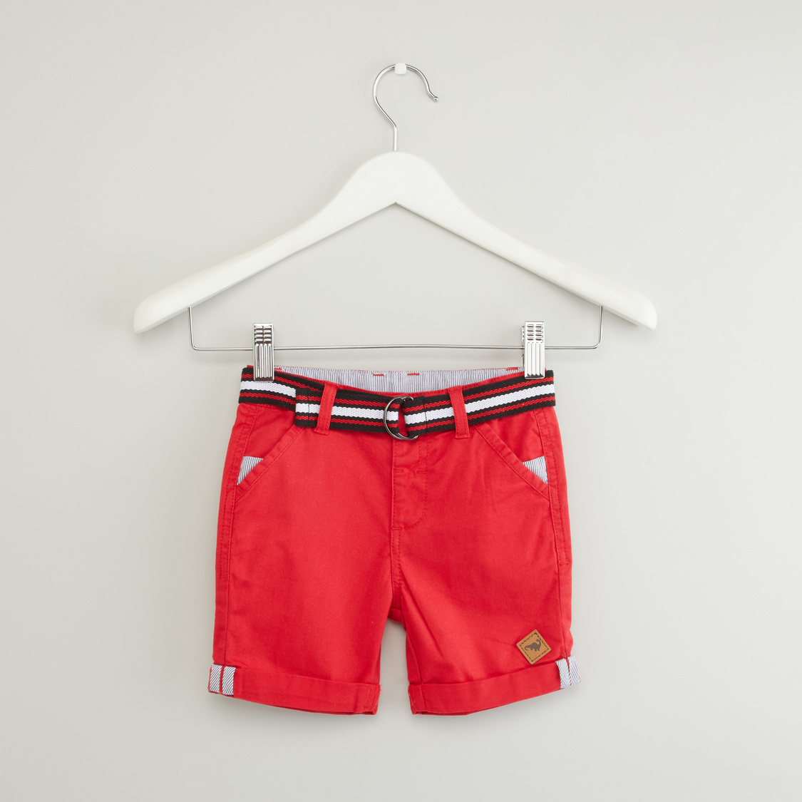 Pocket Detail Shorts with Belt