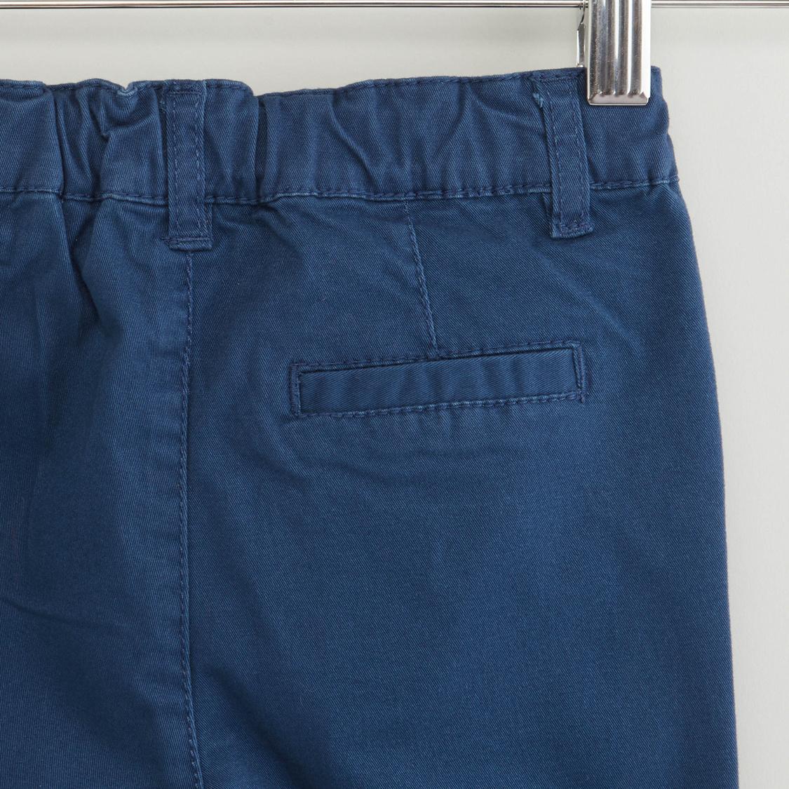Solid Pocket Detail Shorts