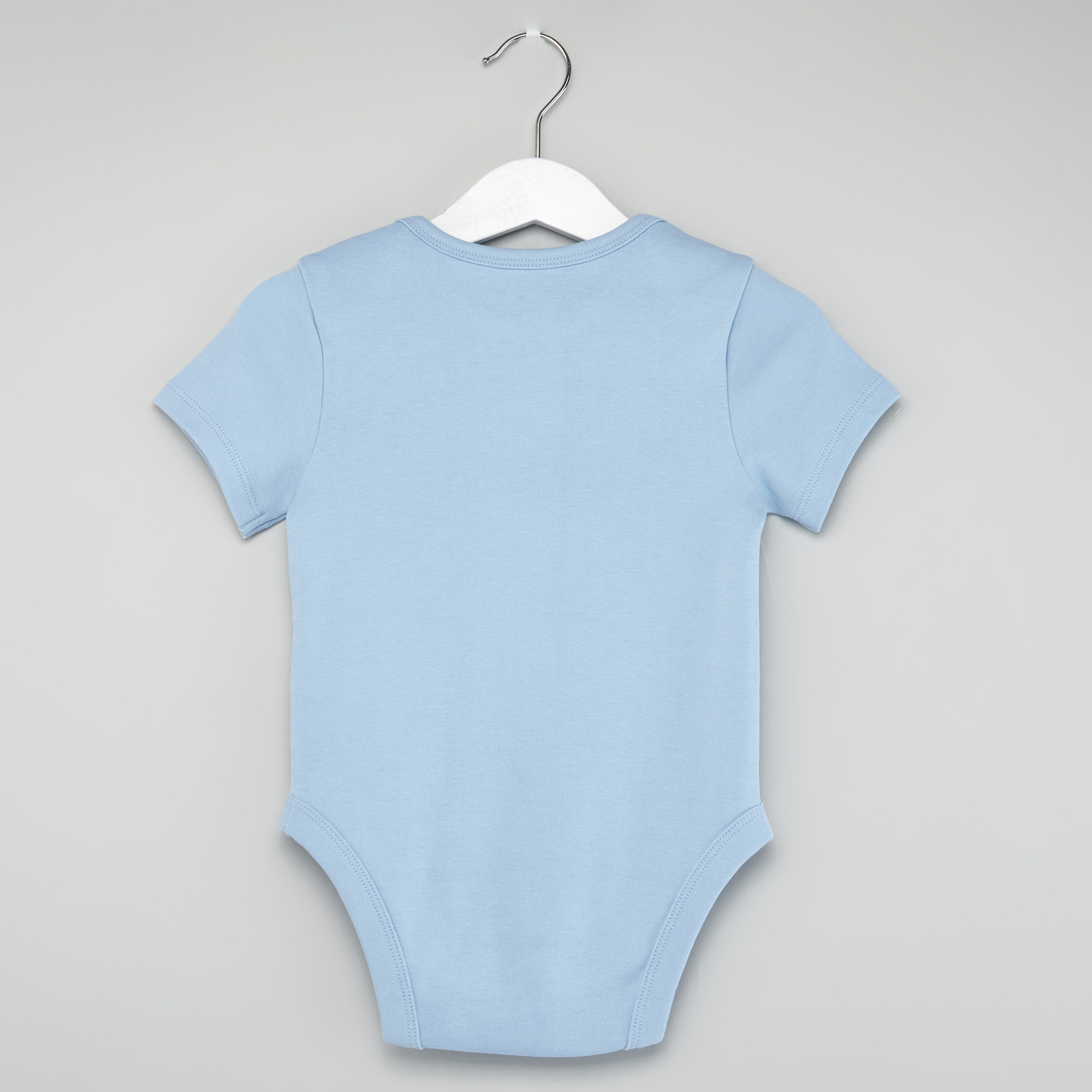 Set of 3 - Solid Bodysuit with Short Sleeves