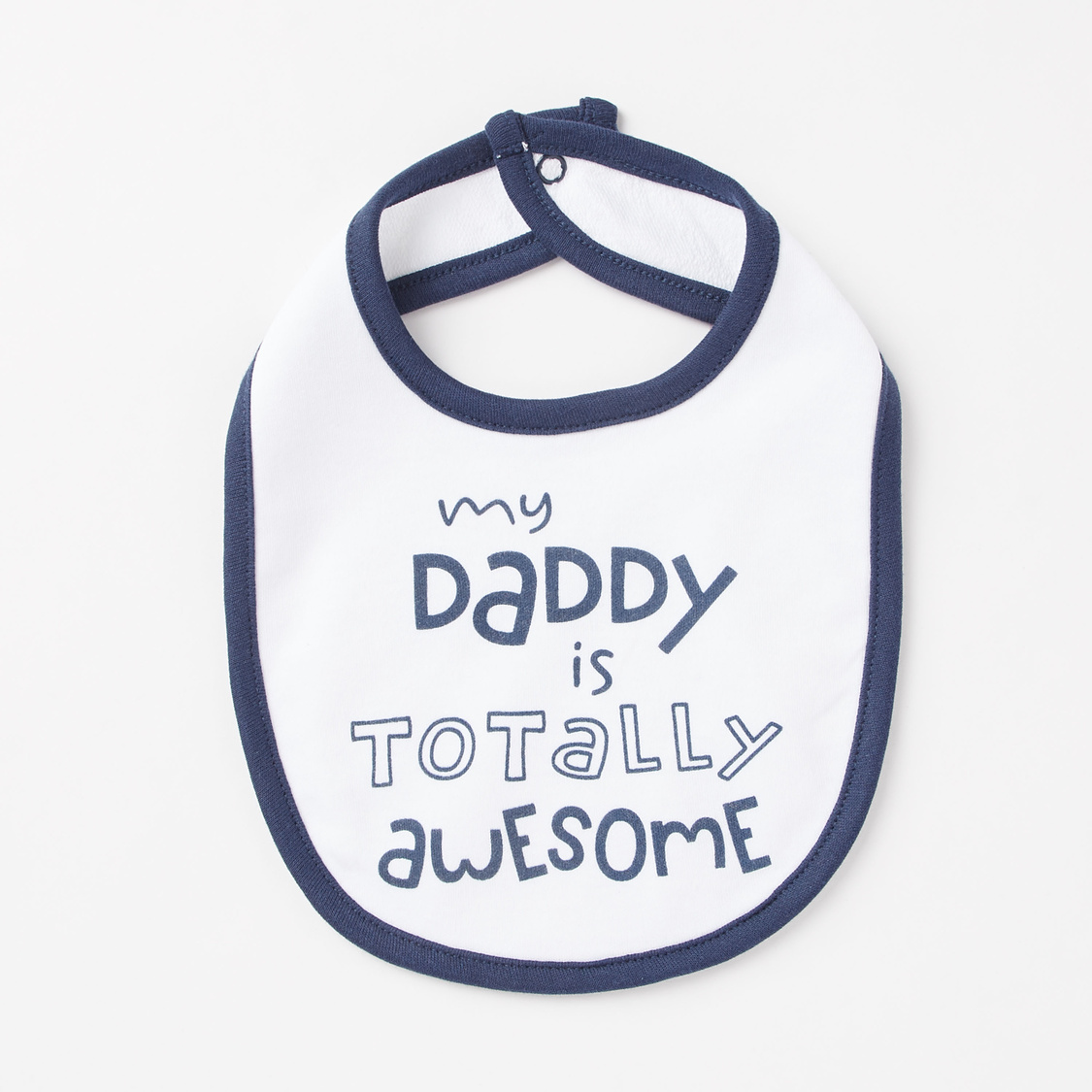 Set of 3 - Printed GOTS Organic Cotton Bibs with Snap Button Closure