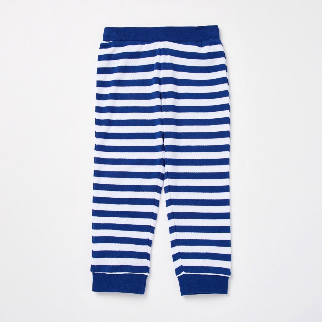 Graphic Print GOTS Organic Cotton T-shirt and Striped Pyjama Set