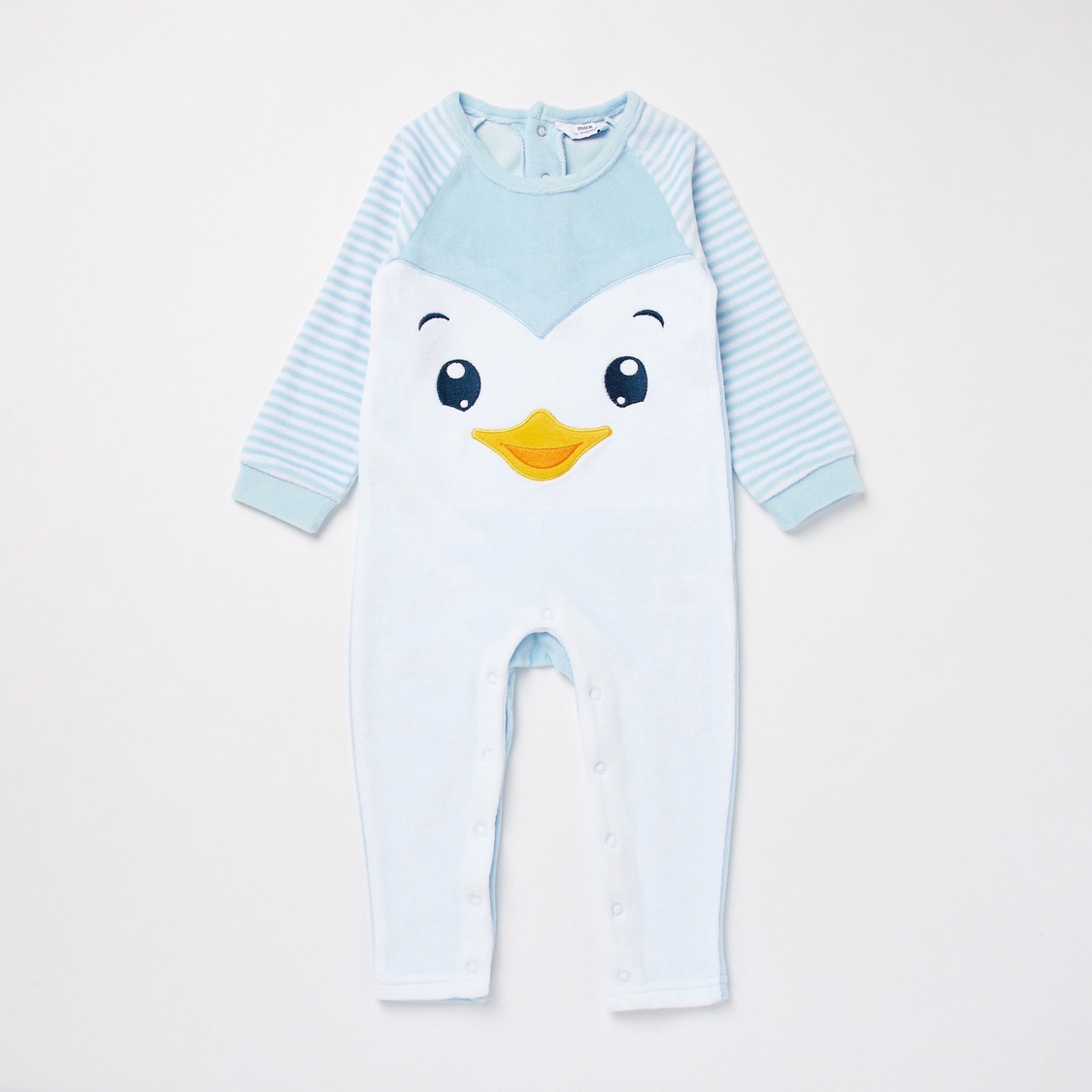 Penguin Print Long Sleeves Sleepsuit with Cap