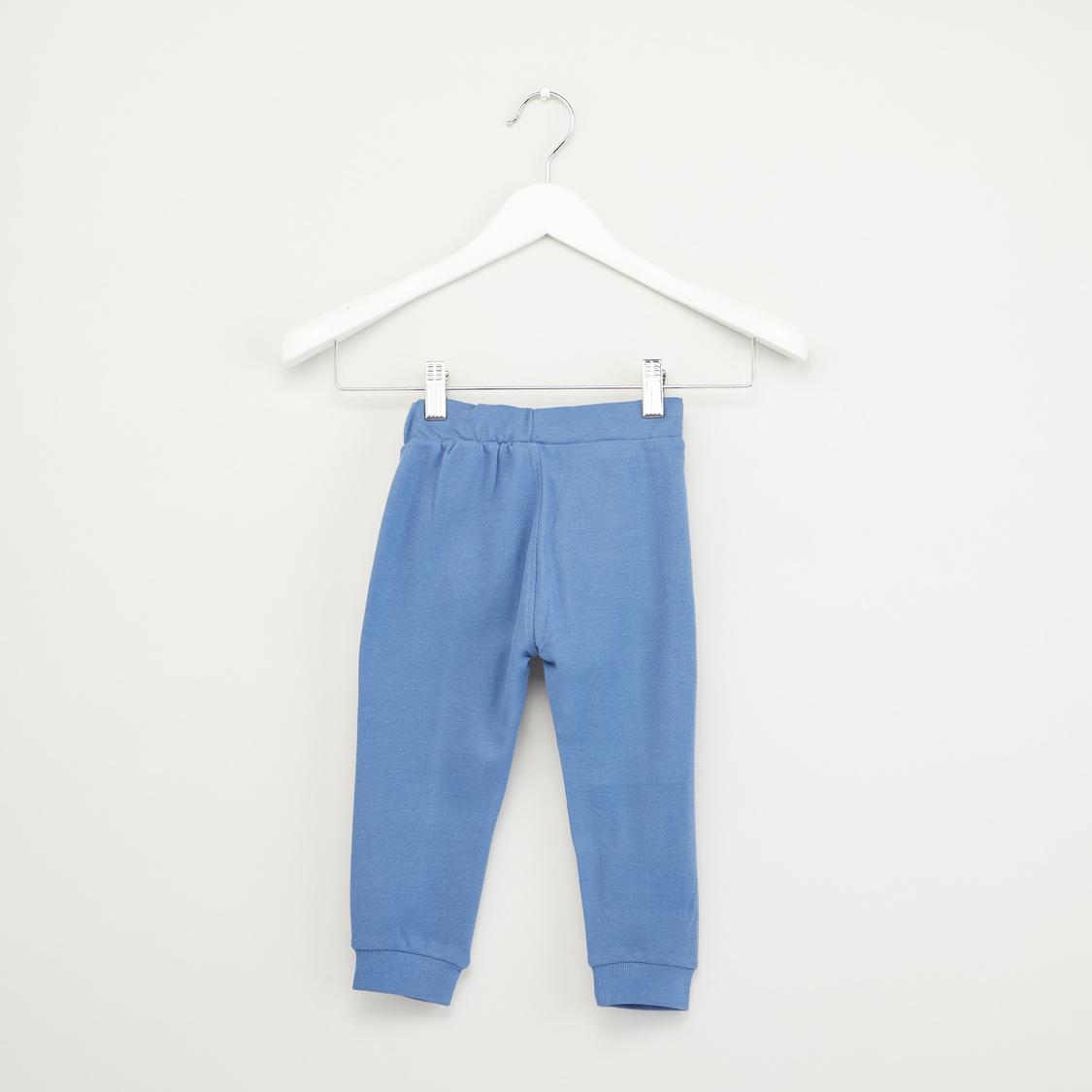 Full Length Plain Jog Pants with Pocket Detail and Drawstrings