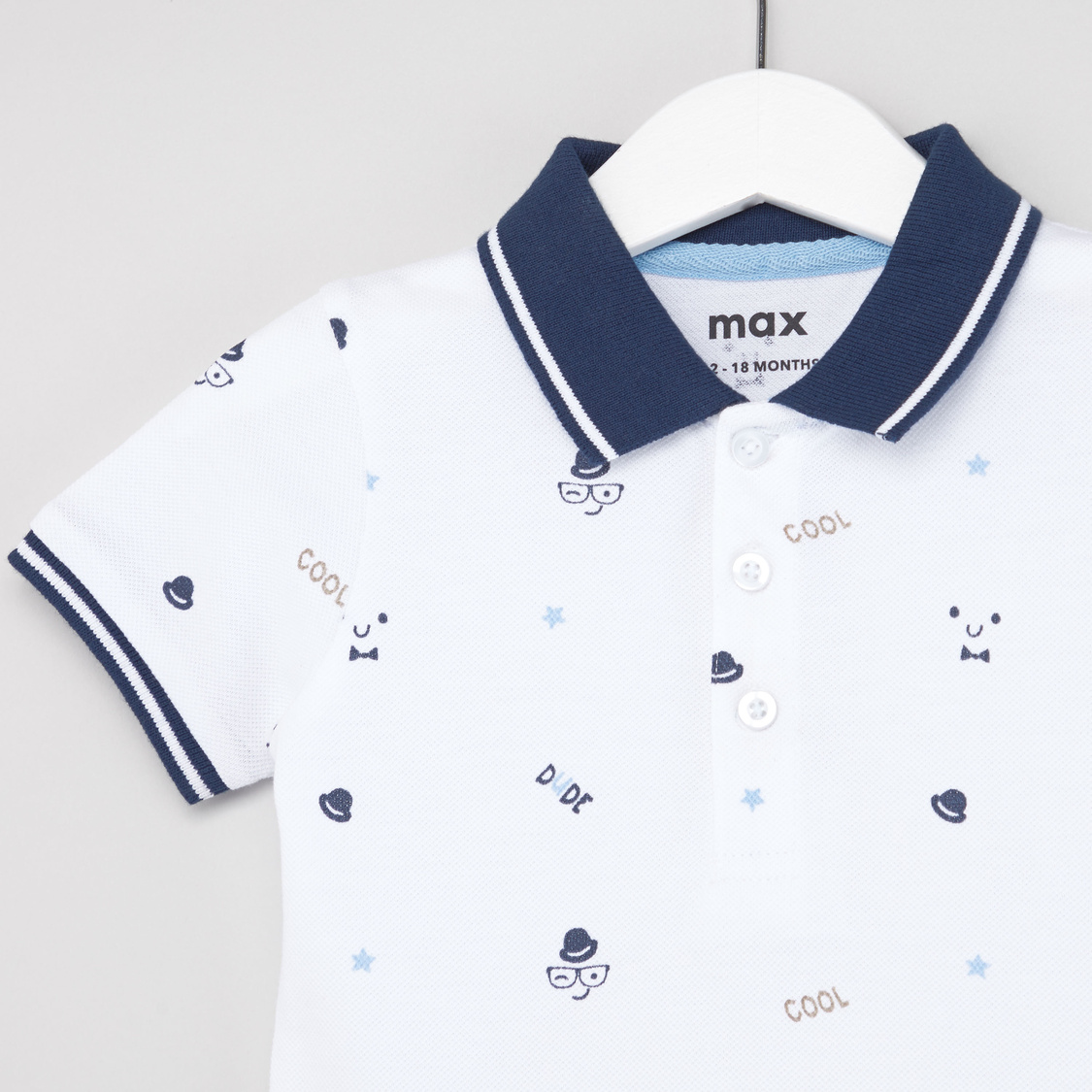 All Over Print Polo T-shirt with Short Sleeves
