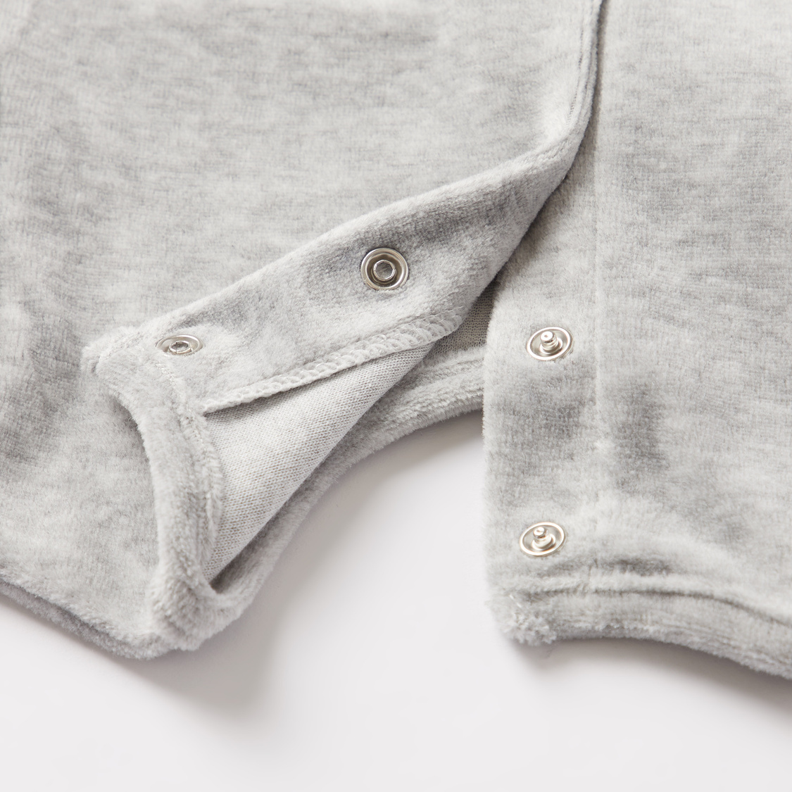Slogan Embroidered Sleepsuit with Long Sleeves and Cap