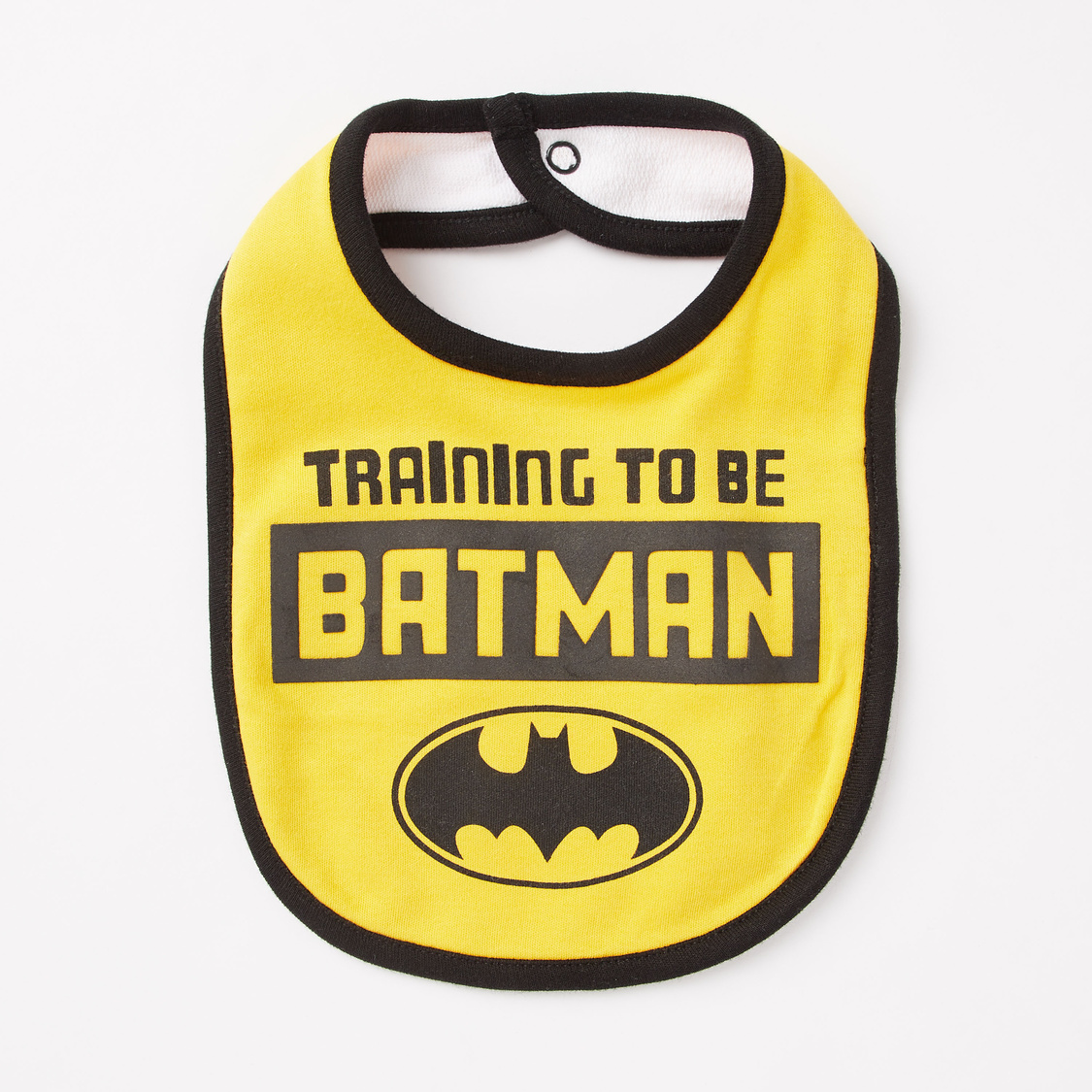 Set of 2 - Batman Print GOTS Organic Cotton Bib