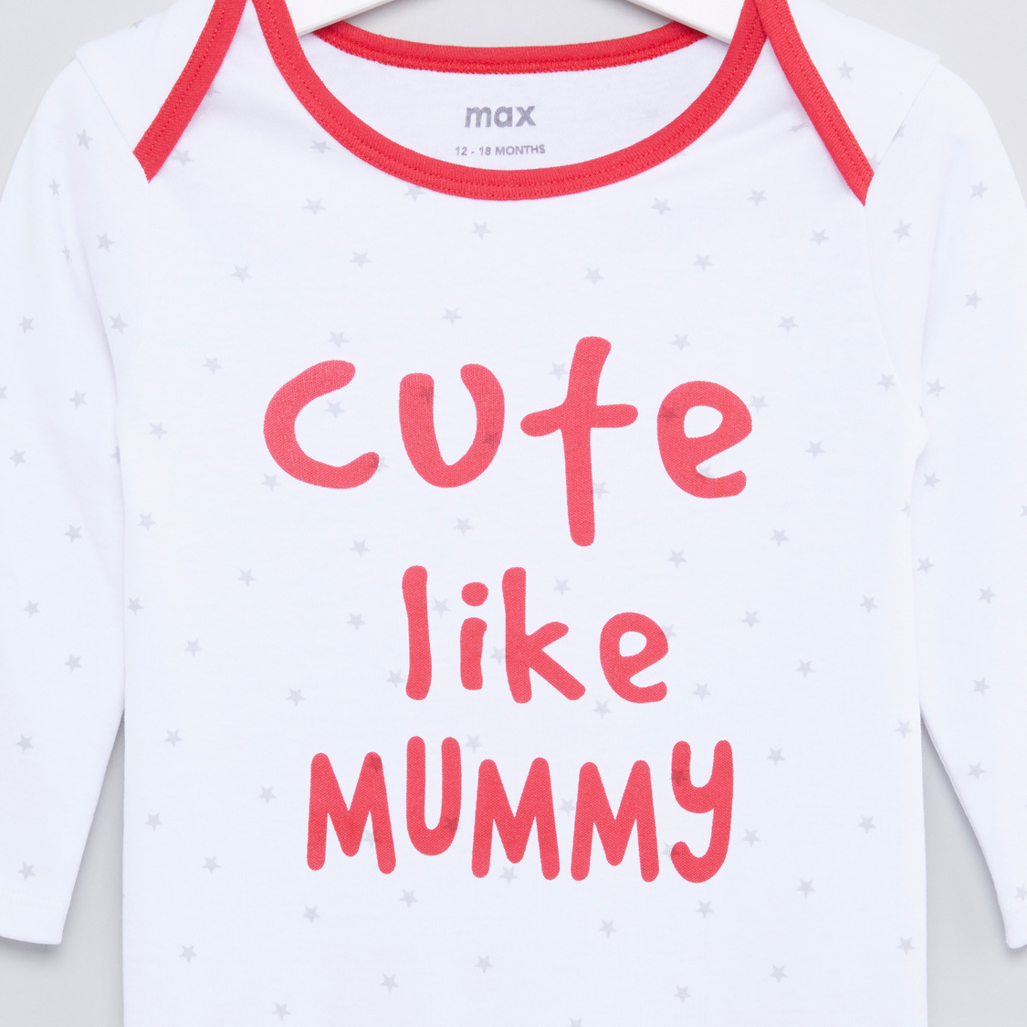 Set of 2 - Printed Sleepsuit with Long Sleeves
