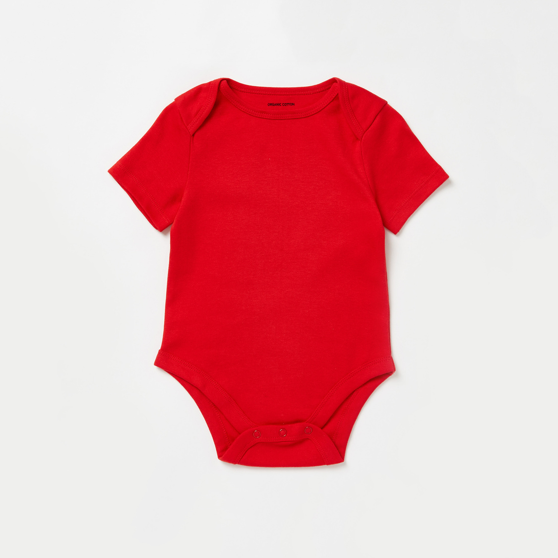 Pack of 7 - Printed Bodysuit with Round Neck and Short Sleeves