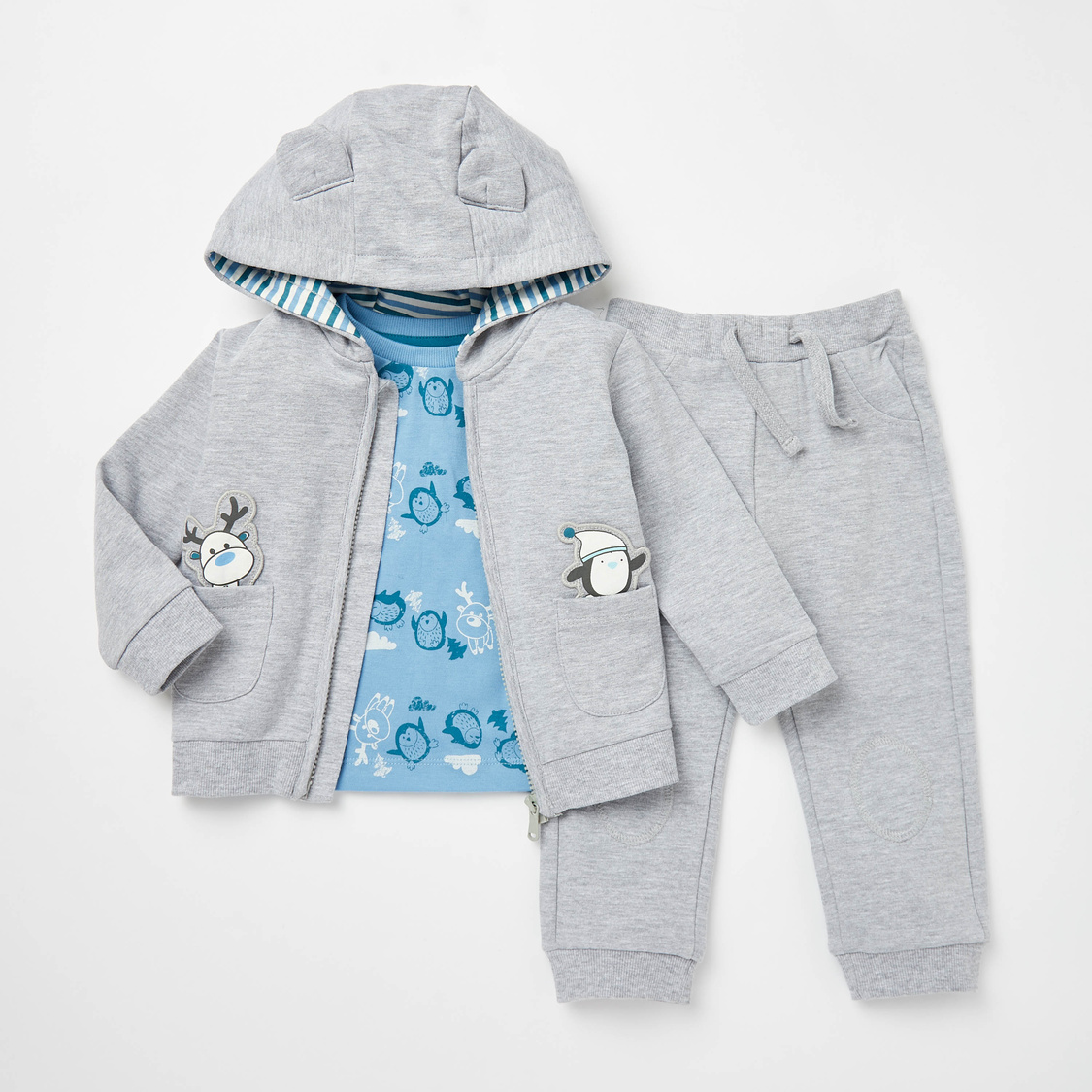 Applique Detail 3-Piece Jog Set