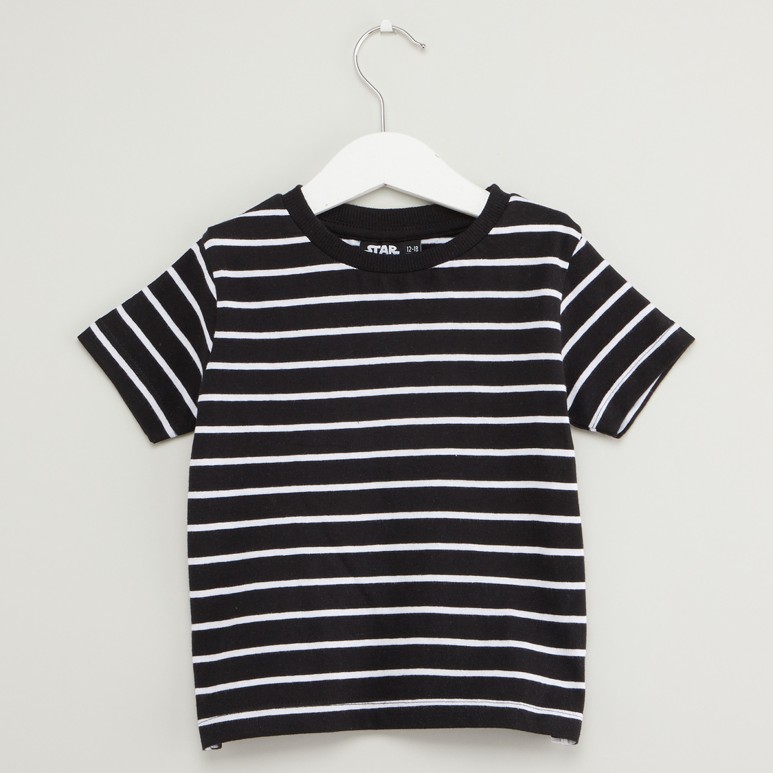 Star Wars Striped Round Neck T-shirt with Dungarees