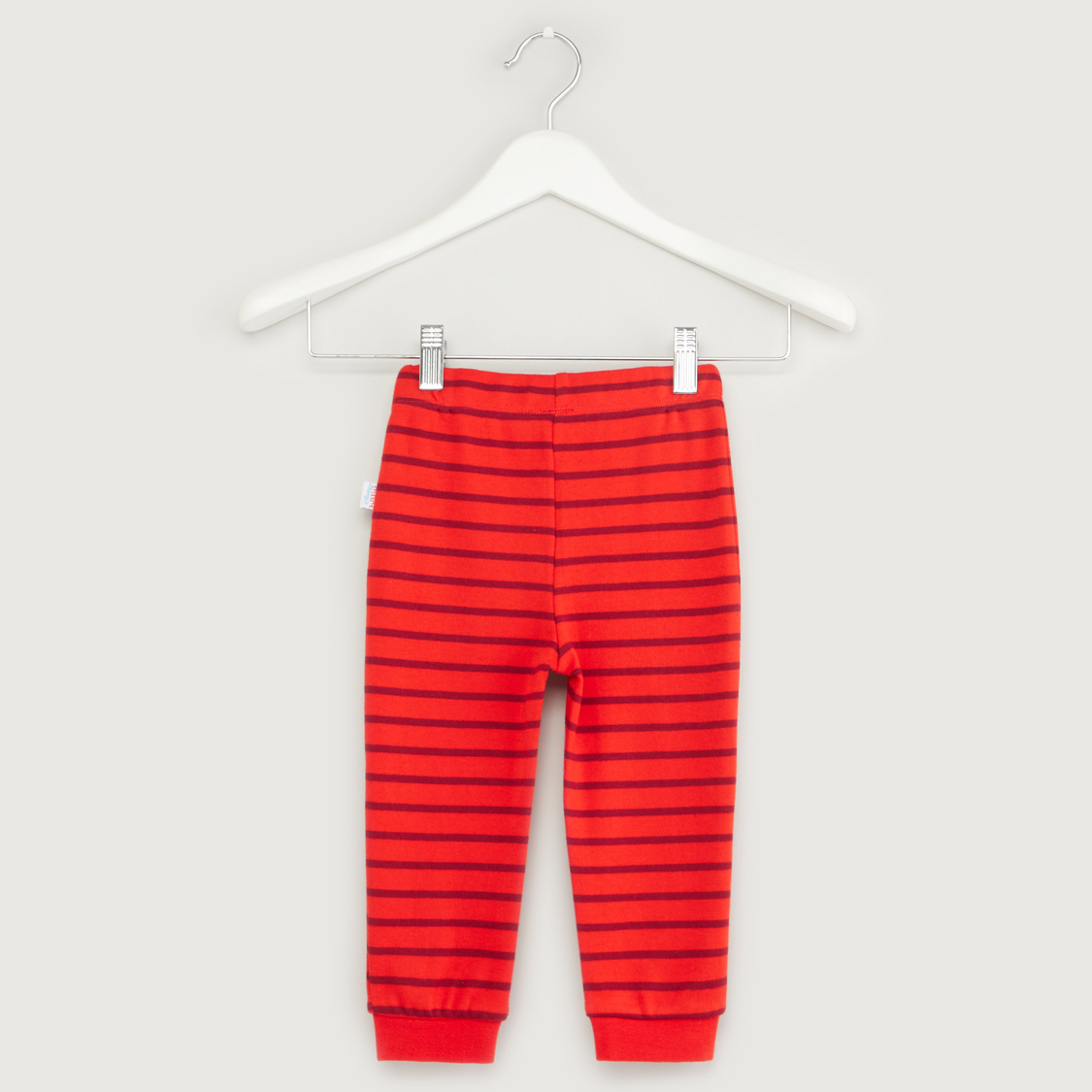 Mickey Mouse Print Long Sleeves T-shirt with Striped Jog Pants