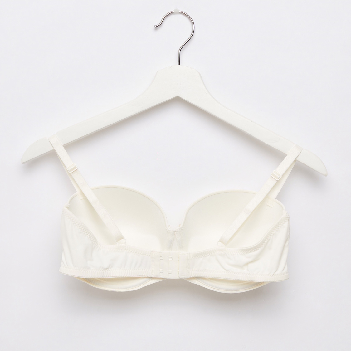 Set of 2 - Padded Wired Balconette Bra with Hook and Eye Closure