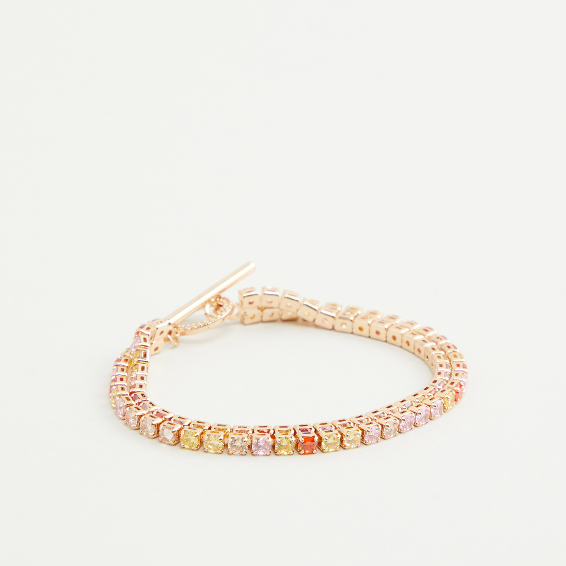 Studded Bracelet with Toggle Closure