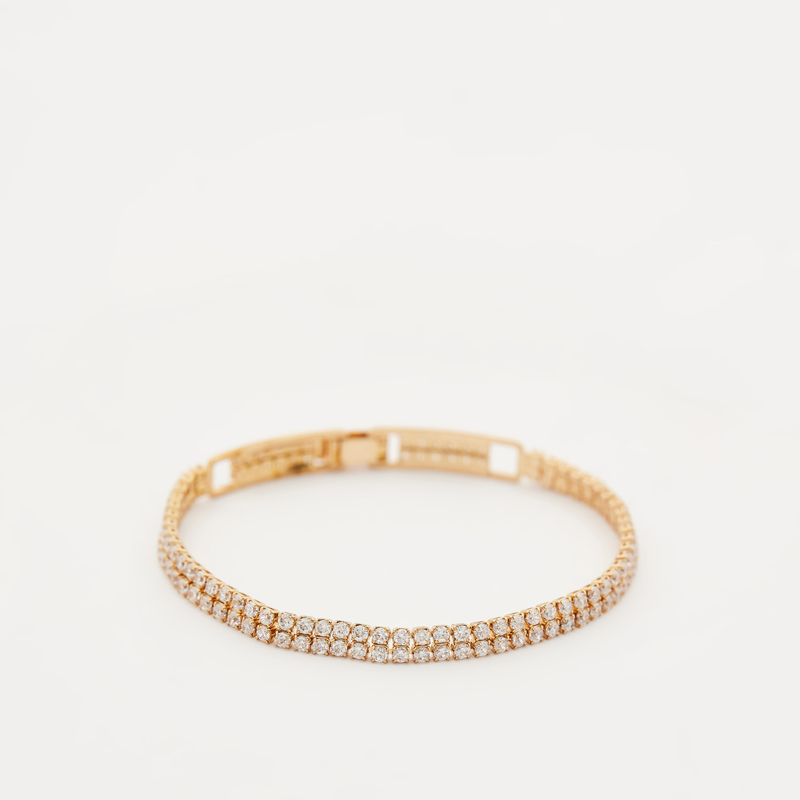 Studded Bracelet with Fold Over Closure