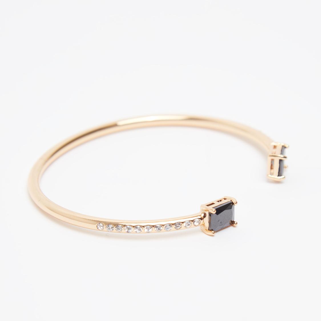 Embellished Open Cuff Bracelet