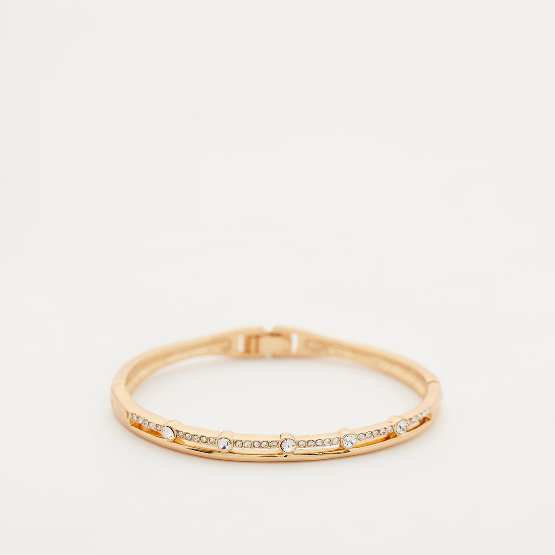 Stud Detail Bracelet with Foldover Clasp