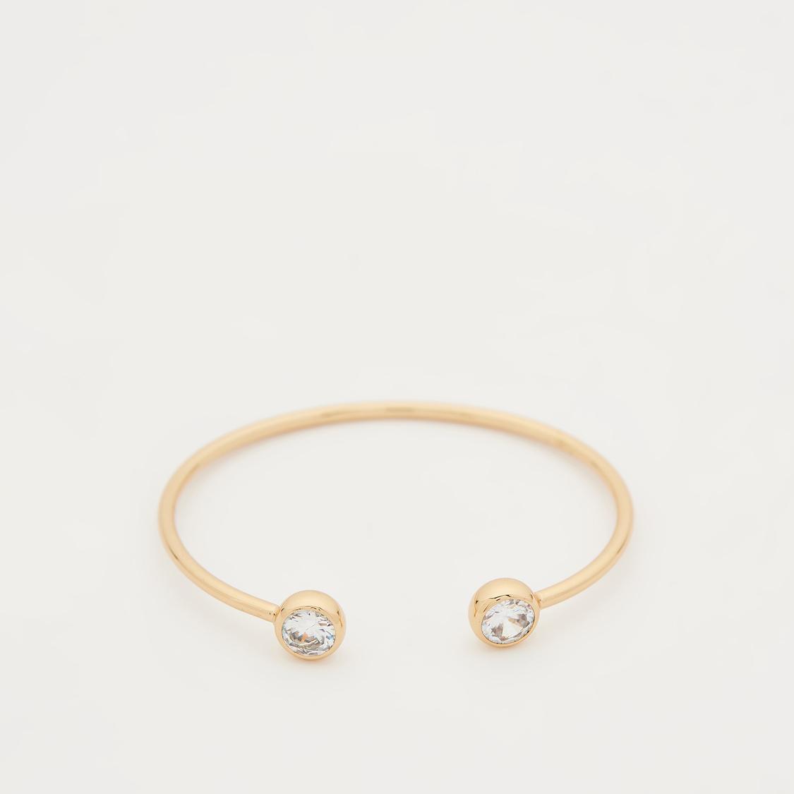 Set of 2 - Stud Detail Open Cuff Bracelet