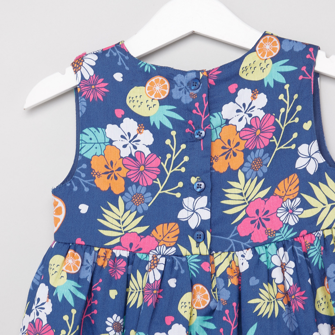Floral Print A-line Sleeveless Dress