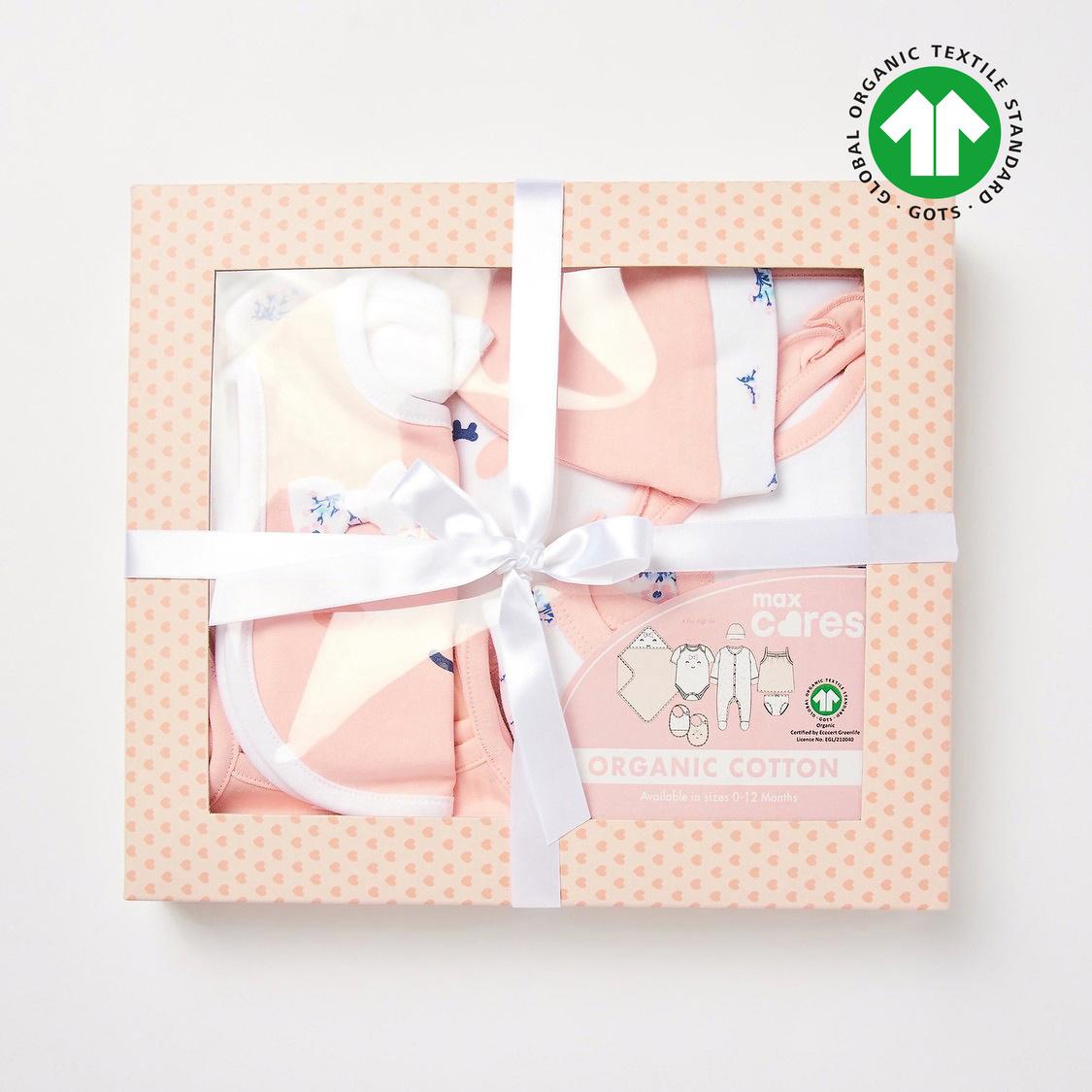 Floral Print GOTS Organic Cotton 8-Piece Gift Set