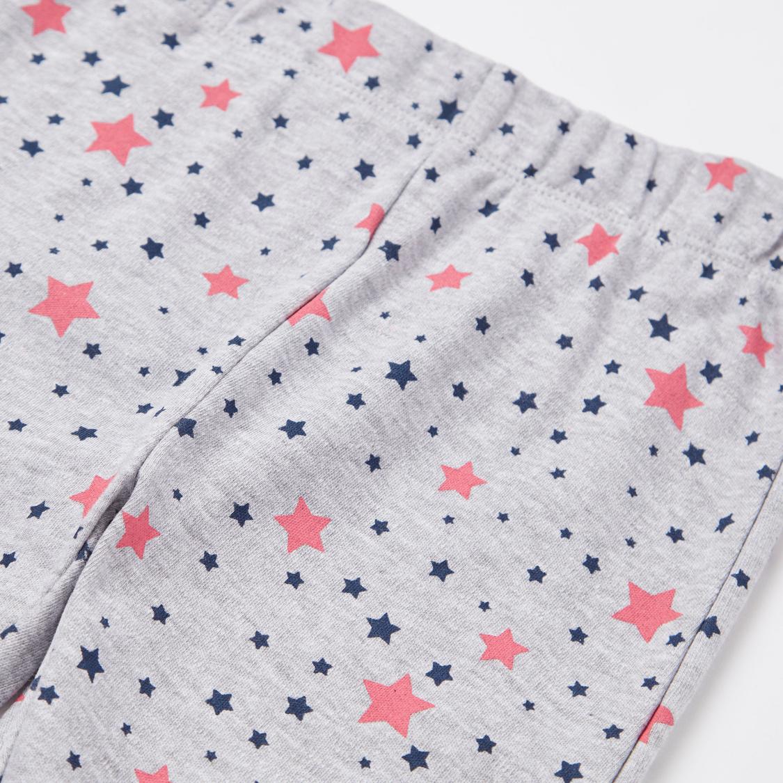 Pretty Princess Print GOTS Organic Cotton T-shirt and Pyjama Set