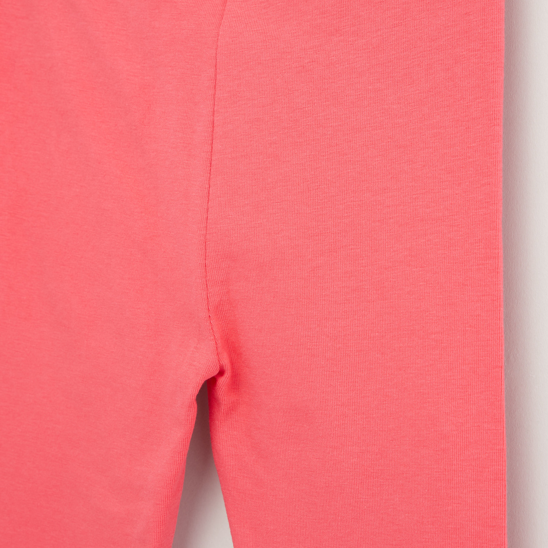 Solid Leggings with Bow Applique