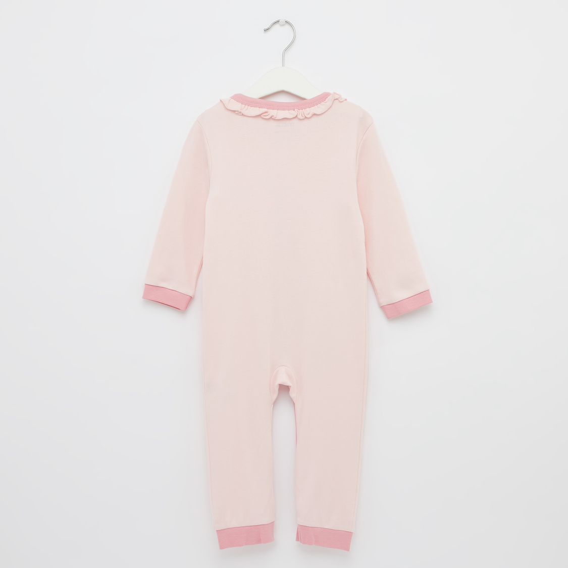 Printed GOTS Organic Cotton Round Neck Sleepsuit with Cap