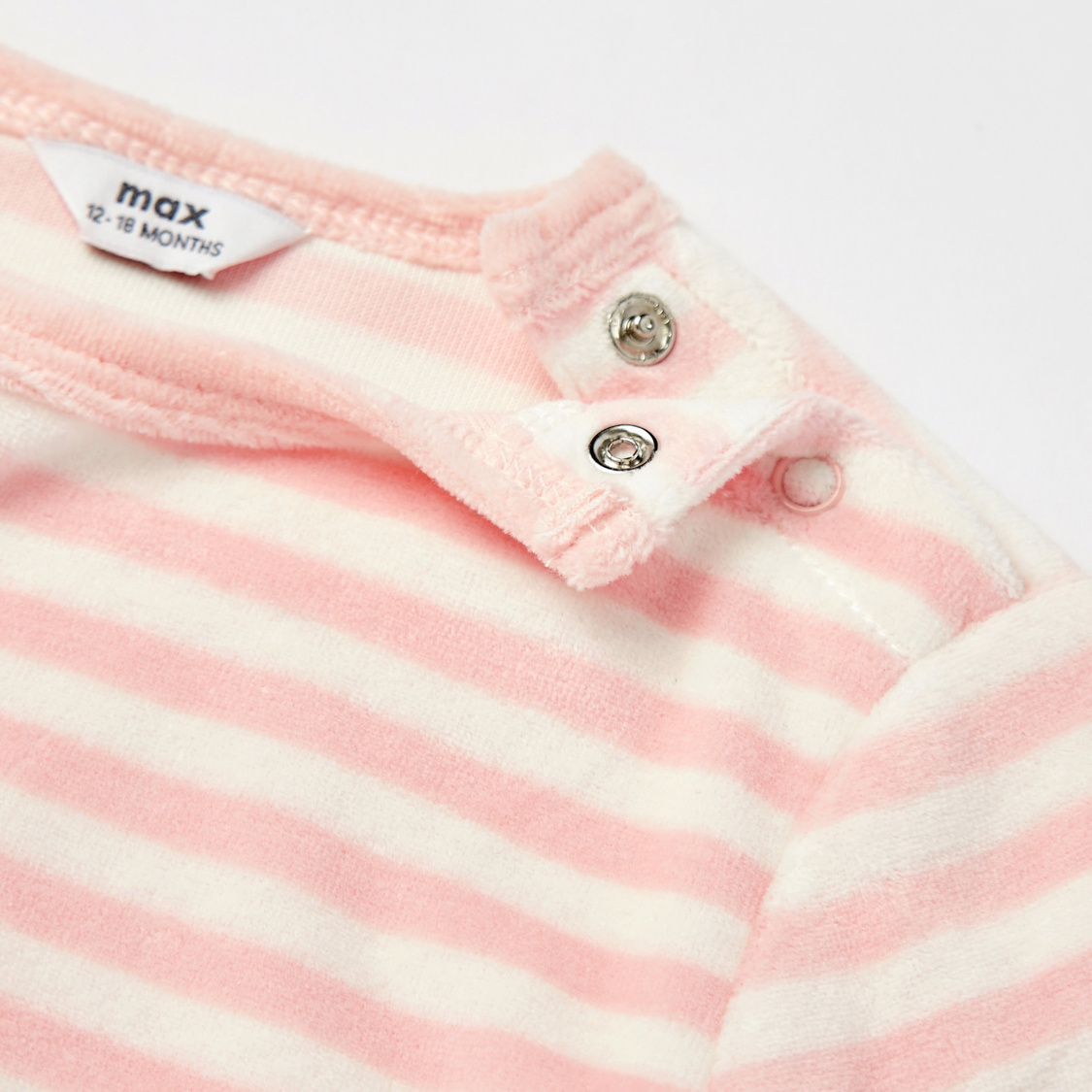 Striped Round Neck T-shirt and Full Length Pyjama Set