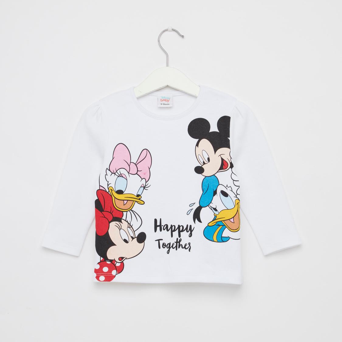 Minnie Daisy Print GOTS Organic Cotton T-shirt and Jog Pants Set