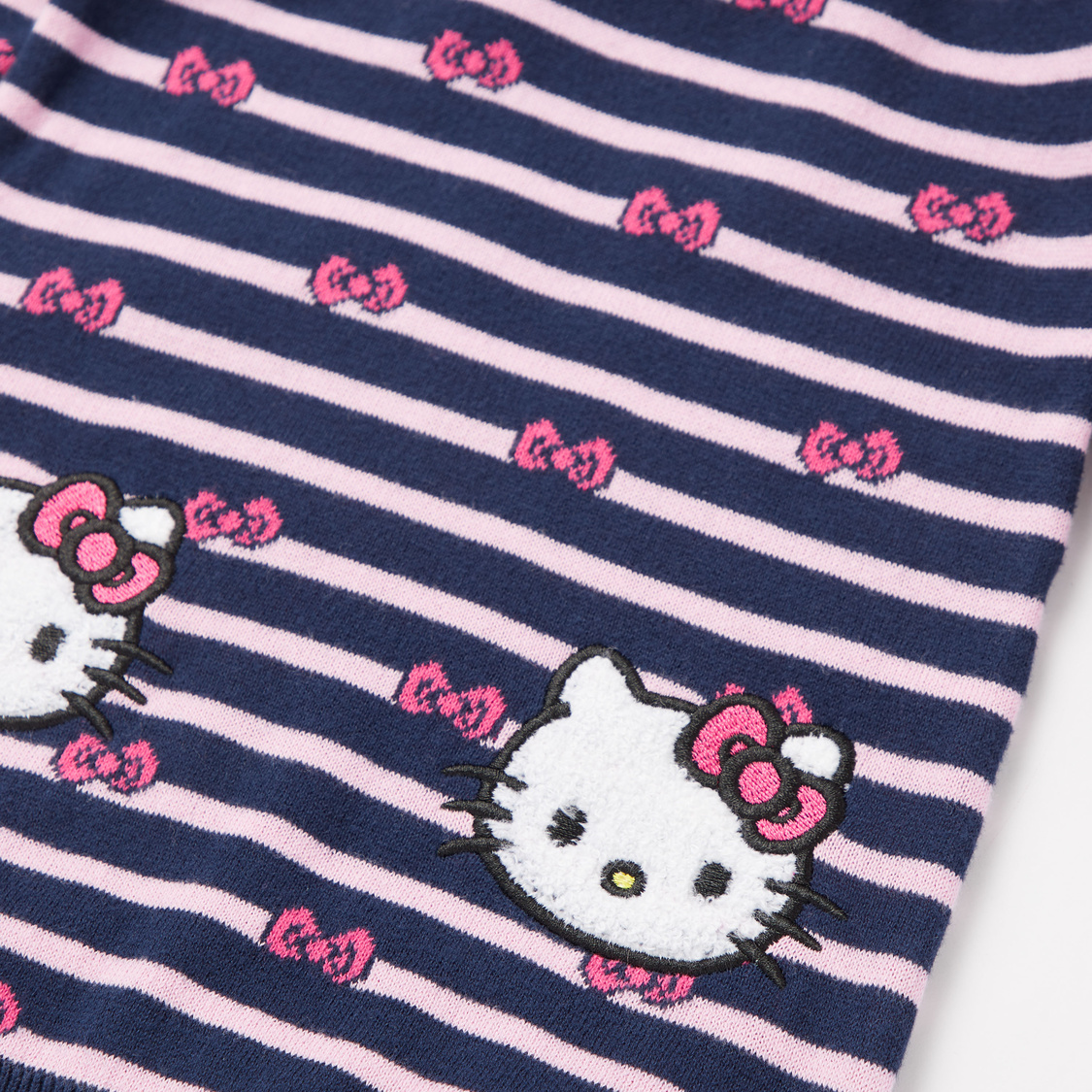 Hello Kitty Print Sweater Dress and Stockings Set