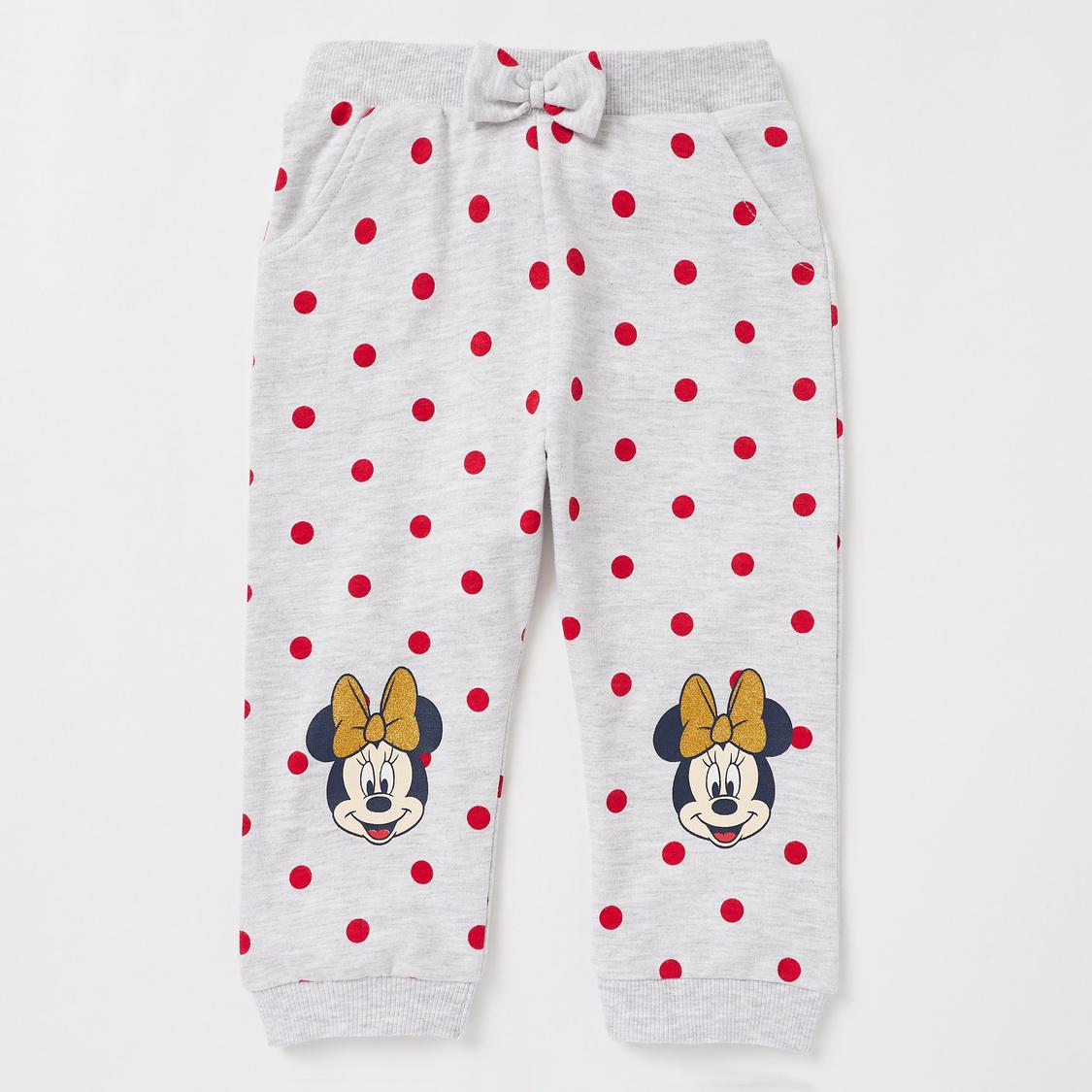All-Over Minnie Mouse Print Sweatshirt and Full Length Jog Pants Set